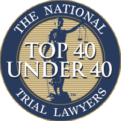 Logo Recognizing Mahaney & Pappas, LLP's affiliation with Top 40 under 40